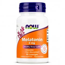 Now Foods - Melatonin 3mg Lozenges