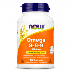 Now Foods - Omega 3-6-9 1000mg