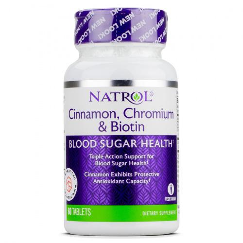 NATROL - Cinnamon Biotin Chromium