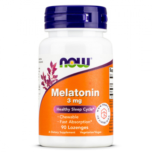 Now Foods - Melatonin 3mg Lozenges