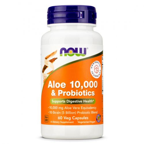 Now Foods - Aloe Vera 10000 & Probiotics