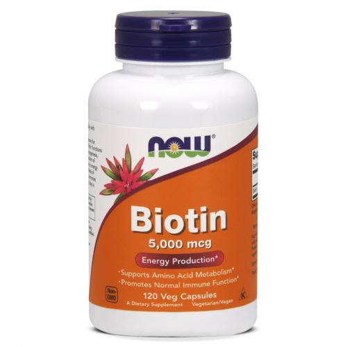 Now Foods - Biotin 5000 mcg