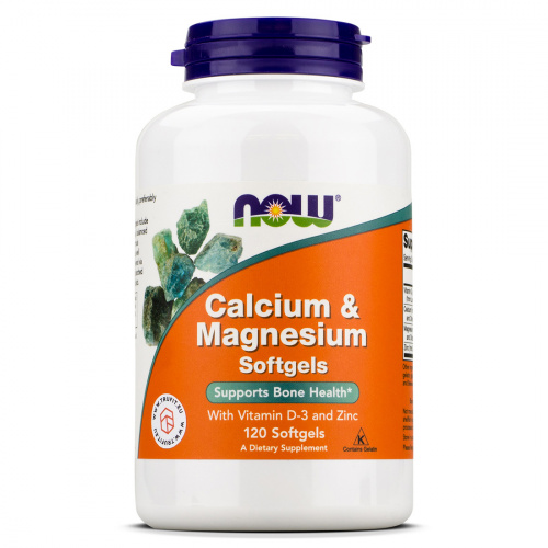 Now Foods - Calcium & Magnesium with Vitamin D3 & Zinc