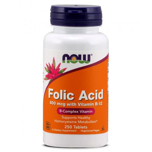 Now Foods - Folic Acid 800 mcg with Vitamin B 12
