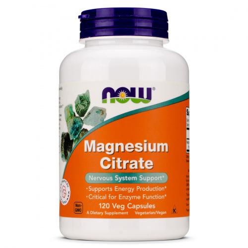 Now Foods - Magnesium Citrate Veg Capsules