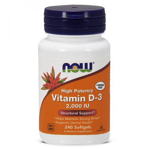 Now Foods - Vitamin D3 2000 IU