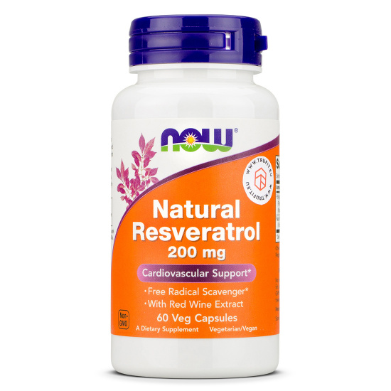Now Foods - Natural Resveratrol 200mg