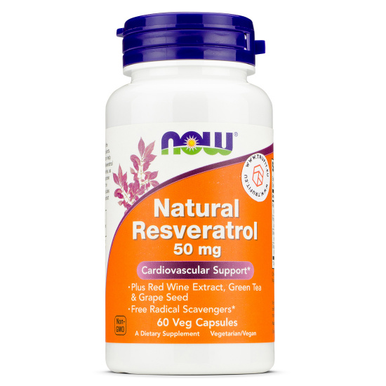Now Foods - Natural Resveratrol 50 mg
